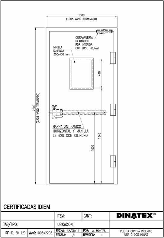 Puertas contra incendio dinatex proyectos de ingenier a for Puertas contra incendios